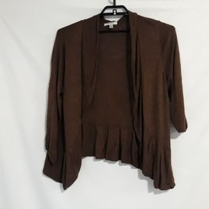 3/$25 Dressbarn brown cardigan